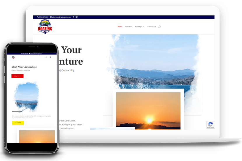 Boating Charter Website by SpinnerMedia