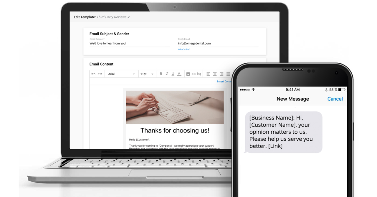 Manage Templates Page of Customer Voice